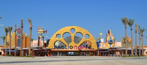 The entrance of Motiongate Dubai