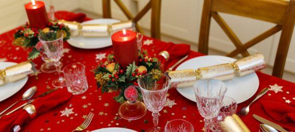 Festive dinner at Christmas