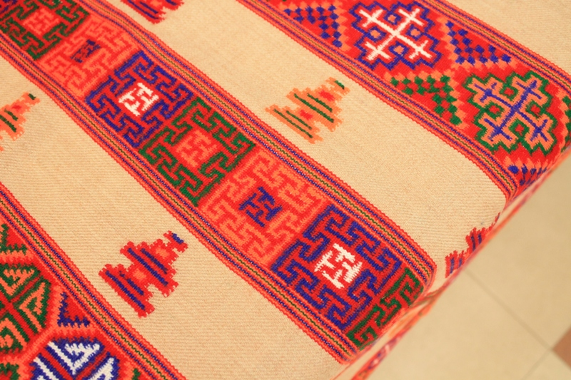 Himachali Kinnauri stole with bright geometrical patterns is counted among the top end products of Bhuttico's new generation heritage and is acknowledged as one of the most difficult to create