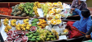 The wide variety of fruits available in Thailand are always a viable option to satisfy hunger