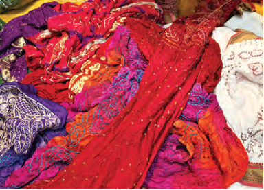 The process of making a bandhani fabric requires specific skills