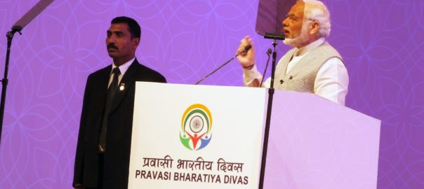 PM Narendra Modi addressing the Pravasi Bharatiya Divas in Bengaluru