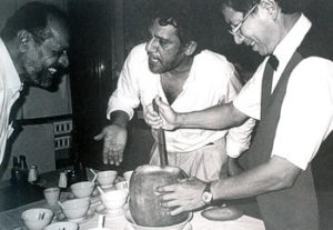 Shyam Benegal with Om Puri in a lighter mood