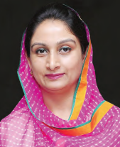 HARSIMRAT KAUR BADAL, Union Cabinet Minister of Food Processing, Government of India