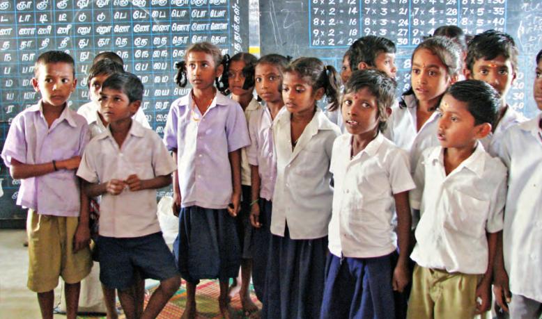Le poids des langues régionales comme le tamoul. Une école dans le Tamil Nadu.