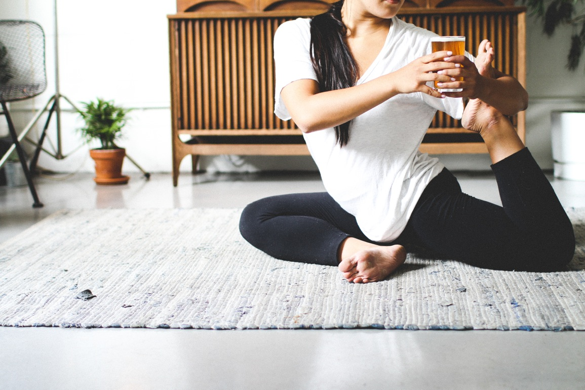 Beer yoga allows you to do those stretches and sip a good brew