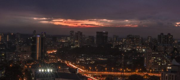 The skyline of Mumbai - the richest city in the country