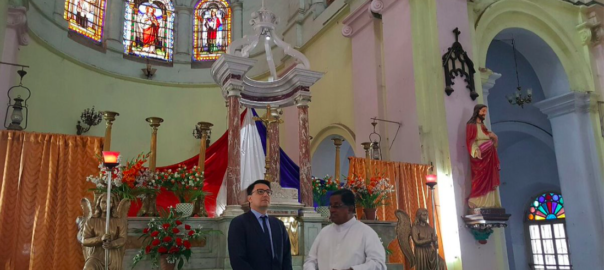 Chandannagar saw the Ambassador of France to India pay a visit to some of its heritage buildings. Photo from Twitter-Alexandre Ziegler @FranceinIndia