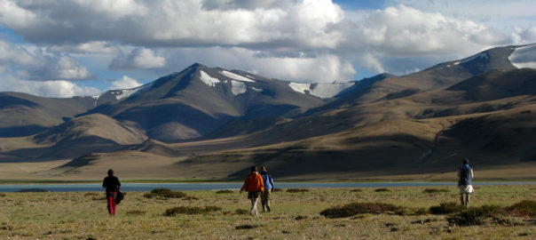 Trekking in Ladakh is a popular choice .  picture via Filckr, McKay Savage