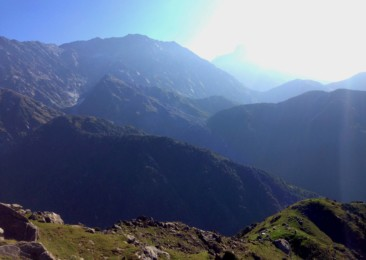 Trekking to Triund in Himachal Pradesh