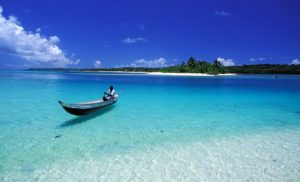 A7P2M1 Madagascar, Eastern coast, Sainte Marie Island (Nosy Boraha), the pass to the small island of ile aux nattes