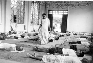 Swami Vishnudevananda teaching Yoga, picture courtesy- Sivananda official page