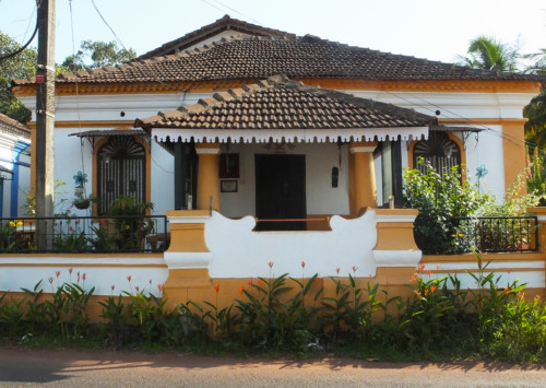 The colourful Fontainhas in Goa
