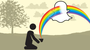 The Snapchat App, known for many filters including the rainbow, is being boycotted in India