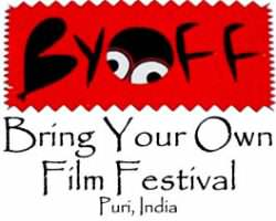 The logo for BYOFF, held in Puri