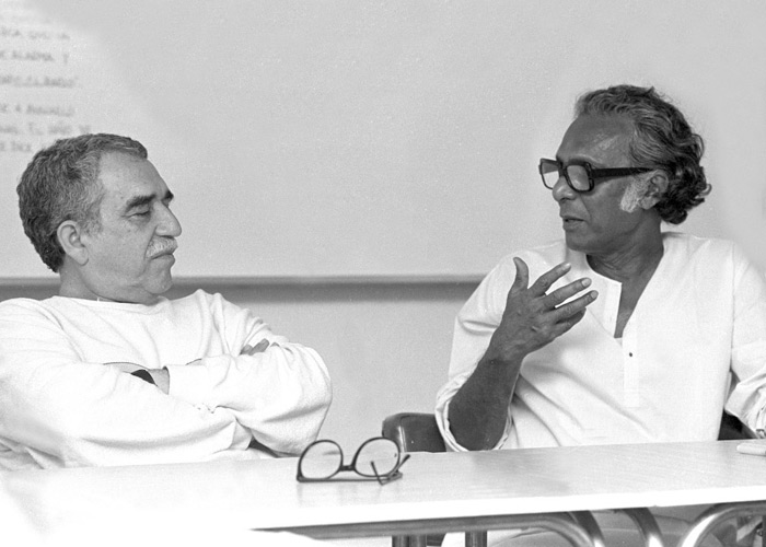 Mrinal Sen with Gabriel Garcia Marquez