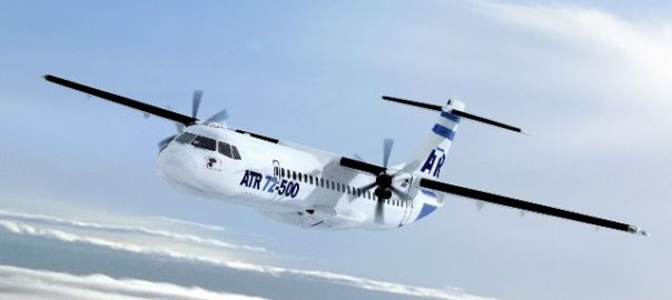 ATR 72-500 can fly 52-70 people and land on smaller airports