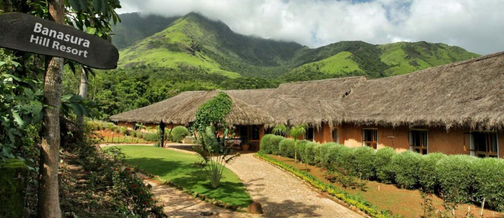 Banasura Hill Resort is an eco-friendly resort and spa set within a tropical forest