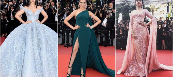#Fashion@Cannes: Aishwarya Rai Bachchan, Deepika Padukone and Sonam Kapoor at the Cannes Film Festival 2017