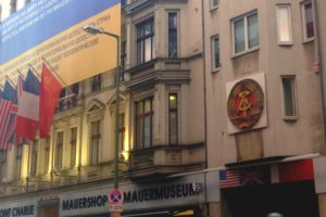A museum is located next to Checkpoint Charlie
