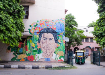 Street Art in New Delhi's Lodhi Colony
