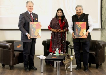 Indian artist Sujata Bajaj's 'Ganapati' launched at the Embassy of India, Rome
