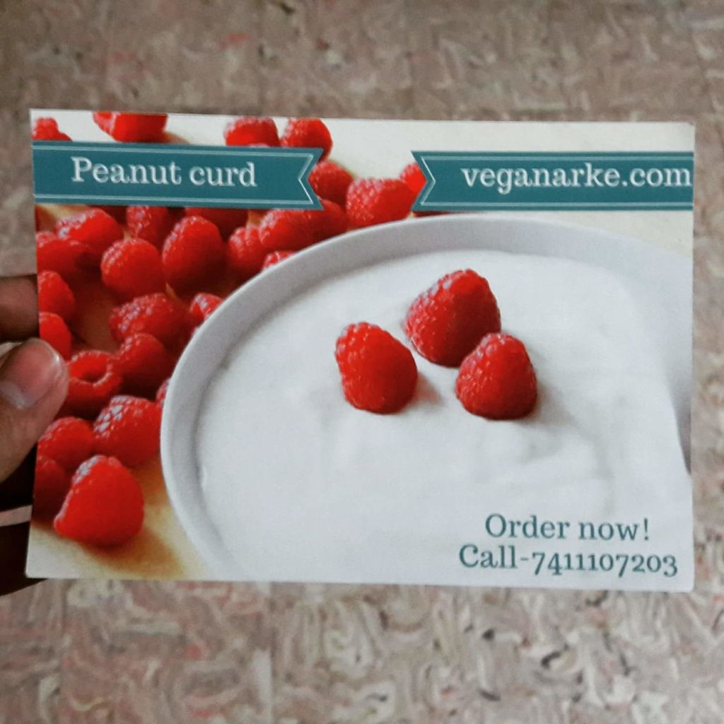 Veganarke's Peanut Curd is a popular curd substitute