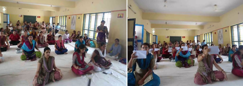 A glimpse of the Antenatal Care workshop carried out in the Garbhvigyan Anusandhan Kendra in Gujarat