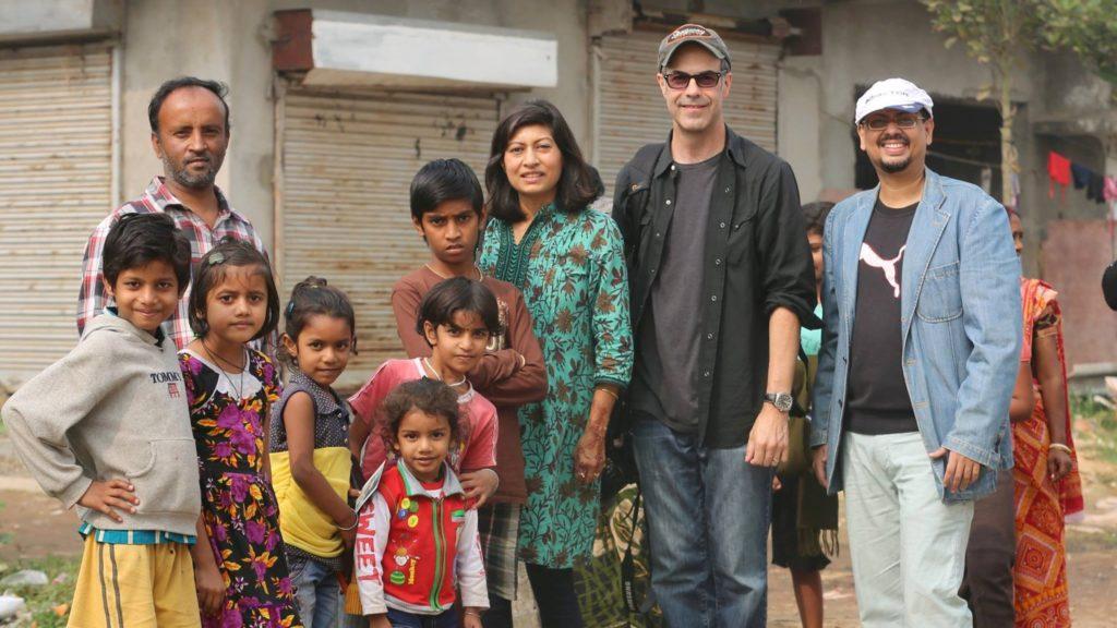 Bipasha, Chris and Rana during their shoot in Kolkata (early Jan, 2016)