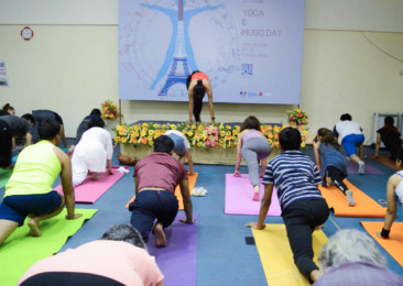 L'Institut français en Inde fête la Journée internationale du yoga