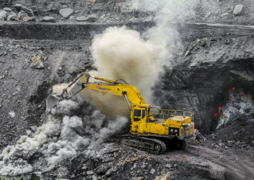Rising coal quarrying in India