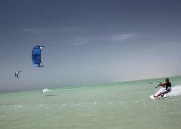 Go kite surfing and wind surfing in Oman