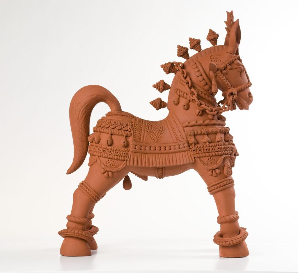 Terracotta horse native to Bengal