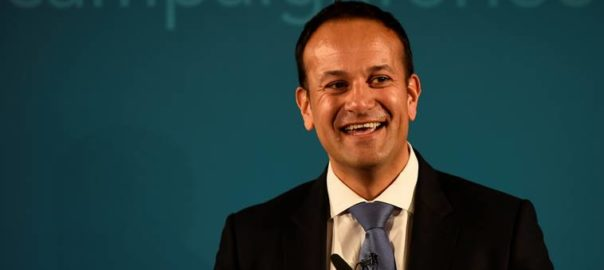 FILE PHOTO: Ireland's Minister for Social Protection Leo Varadkar launches his campaign bid for Fine Gael party leader in Dublin, Ireland May 20, 2017. REUTERS/Clodagh Kilcoyne/File Photo