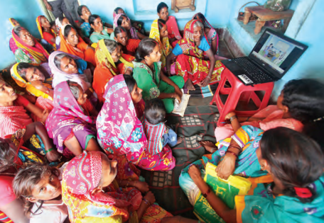 Legal awareness drive by legal aid clinics, the national adult literacy programme and common service centres in the states like Uttar Pradesh and Madhya Pradesh