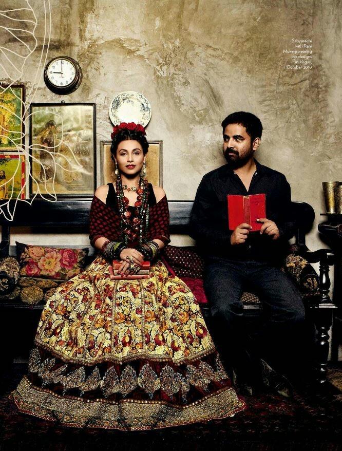 Indian actress Rani Mukerji dressed as Frida in a Sabyasachi creation