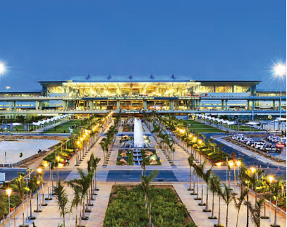 GMR Hyderabad International Airport operated Rajiv Gandhi International Airport