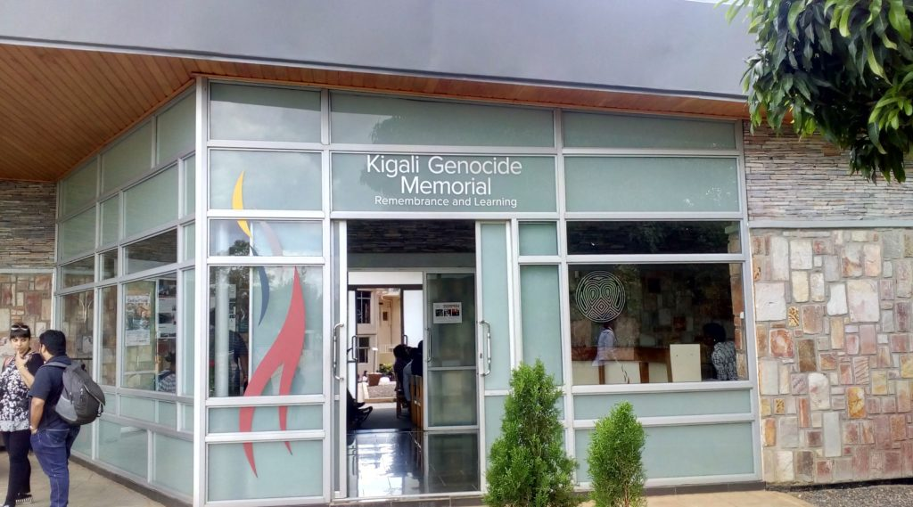 The Kigali Genocide Memorial is located in Gisozi, ten minutes drive from the centre of town