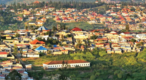 Capital city Kigali, nestled in the rolling hills of Rwanda, also called 'Land of thousand Hills'