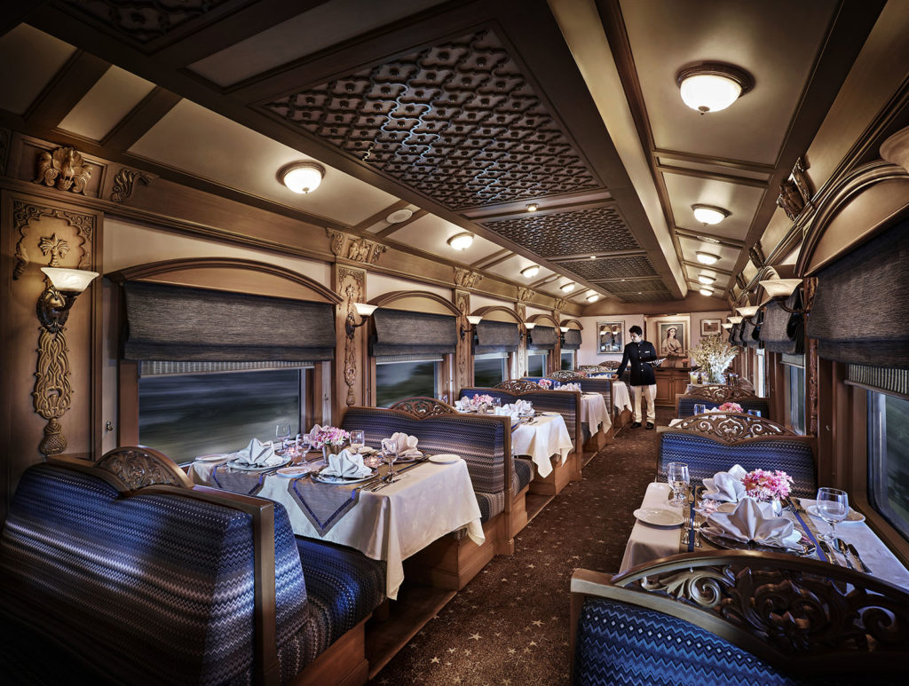 Quoted 'luxury on wheels', the Deccan Odyssey boasts of two gourmet restaurants