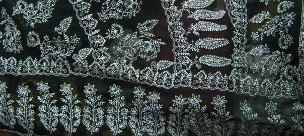 Chikan embroidery is also sometimes called Lucknowi Chikan