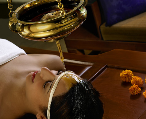 Ayurveda spa is a specialty of the Leela Kovalam