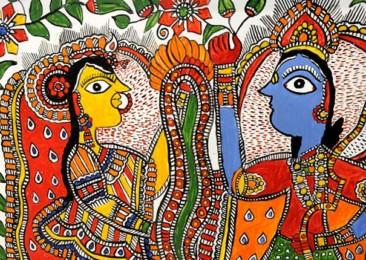 L'art des peintures «Madhubani»