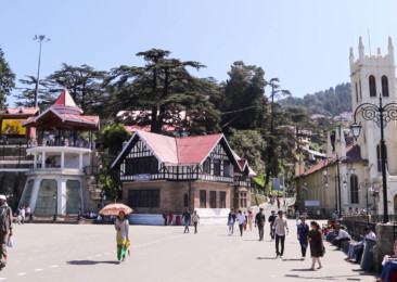 The Mall Road in Shimla