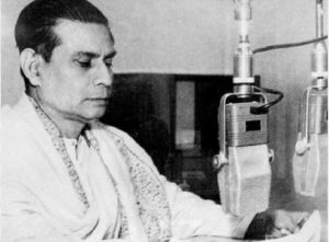 Birendra Krishna Bhadra at the All India Radio station in Kolkata