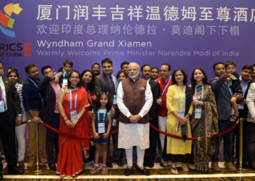 Modi addresses Indian diaspora in Xiamen