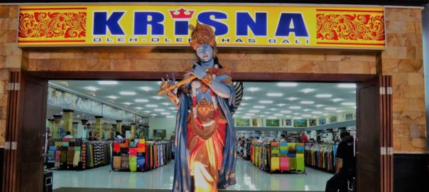 The Krishna statue at the entrance of Krisna mart