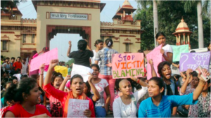 Women took to protesting for their safety in Banaras Hindu University, and were met with strict police action. Photo: PTI