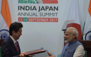 At the India-Japan annual summit, both Prime Ministers signed several deals
