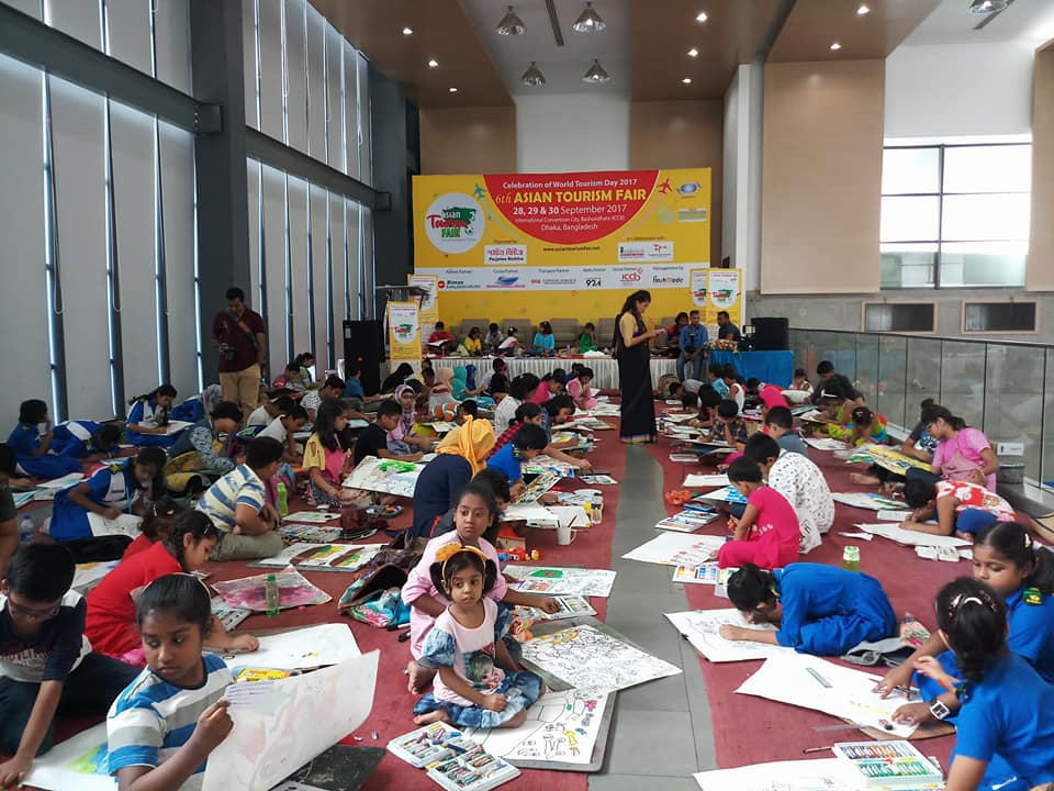 Art Competition for the children organised at the fair